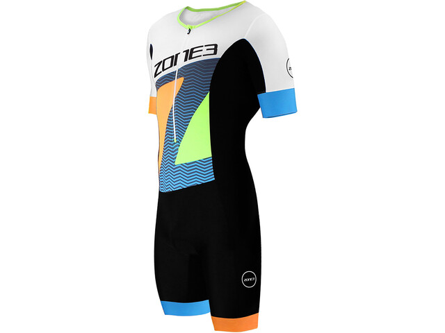 Zone3 Lava SS Aero Trisuit Men, ltd ed-black/white/orange/blue/yellow